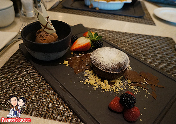 10 at claymore pan pacific orchard chocolate lava cake