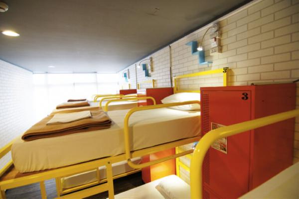 8-bed bunk dorm
