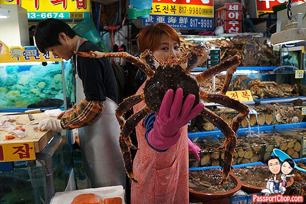 alaskan king crab noryangjin fish seafood market seoul review