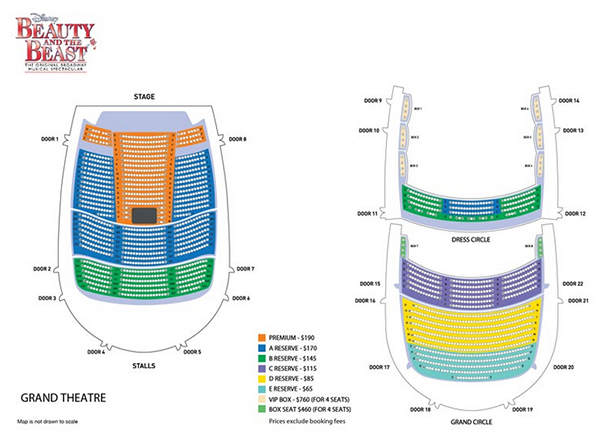 beauty and beast singapore seating arrangements