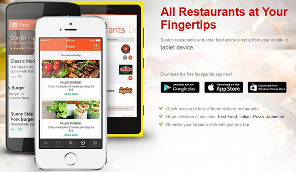 foodpanda iphone android windows app delivery