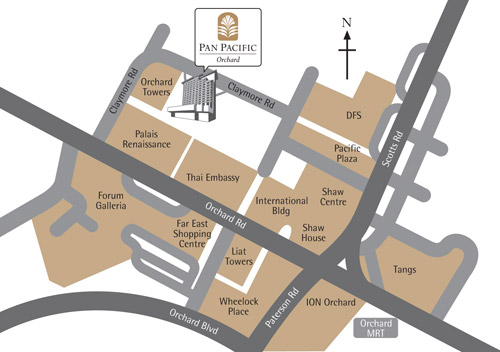 pan pacific orchard map shopping belt singapore