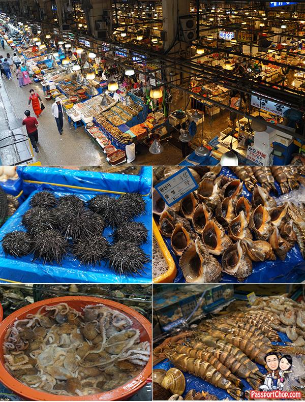 seafood variety noryangjin fish market seoul