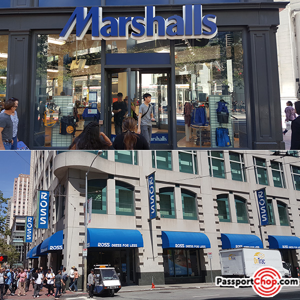 marshalls ross budget cheap shopping bargain market street san francisco