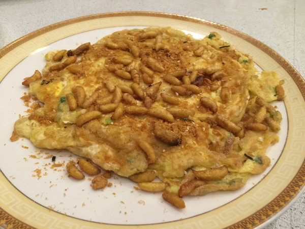 atayal cuisine mealworms omelette