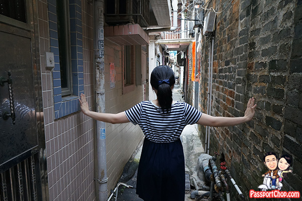 narrow streets kat hing wai walled village