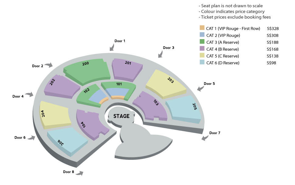 TOTEM Singapore Seating Arrangement Cirque du Soleil tickets