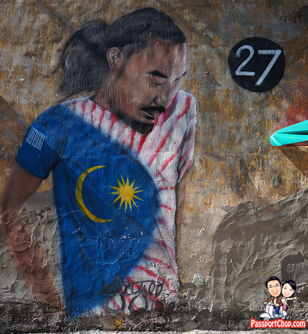 lebuh ah quee street art malaysian