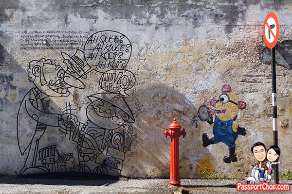 minion loudhailer penang street art