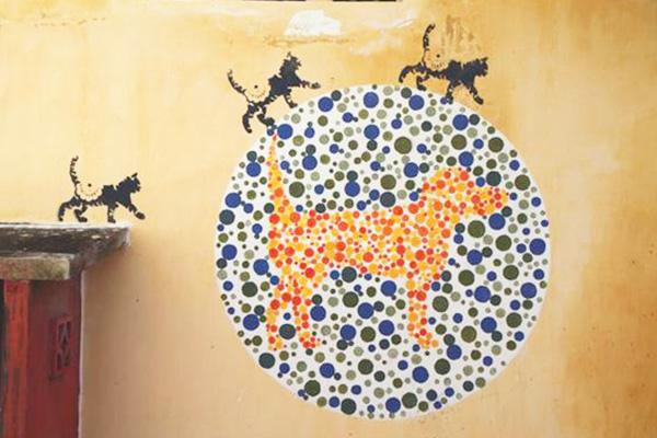 no animal discrimination please street art penang edelweiss cafe