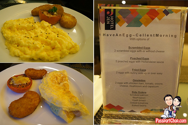 scrambled omelette eggs to order hotel jen lounge club
