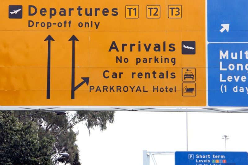 melbourne airport return car rental dropoff departure terminal