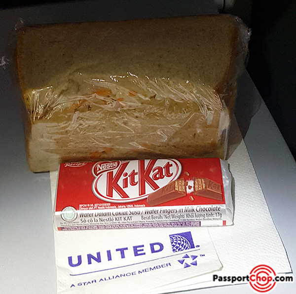 united airlines san francisco singapore direct flight onboard snacks