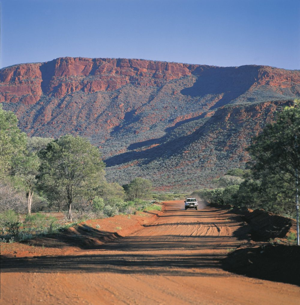 4WD near Mount Augustus