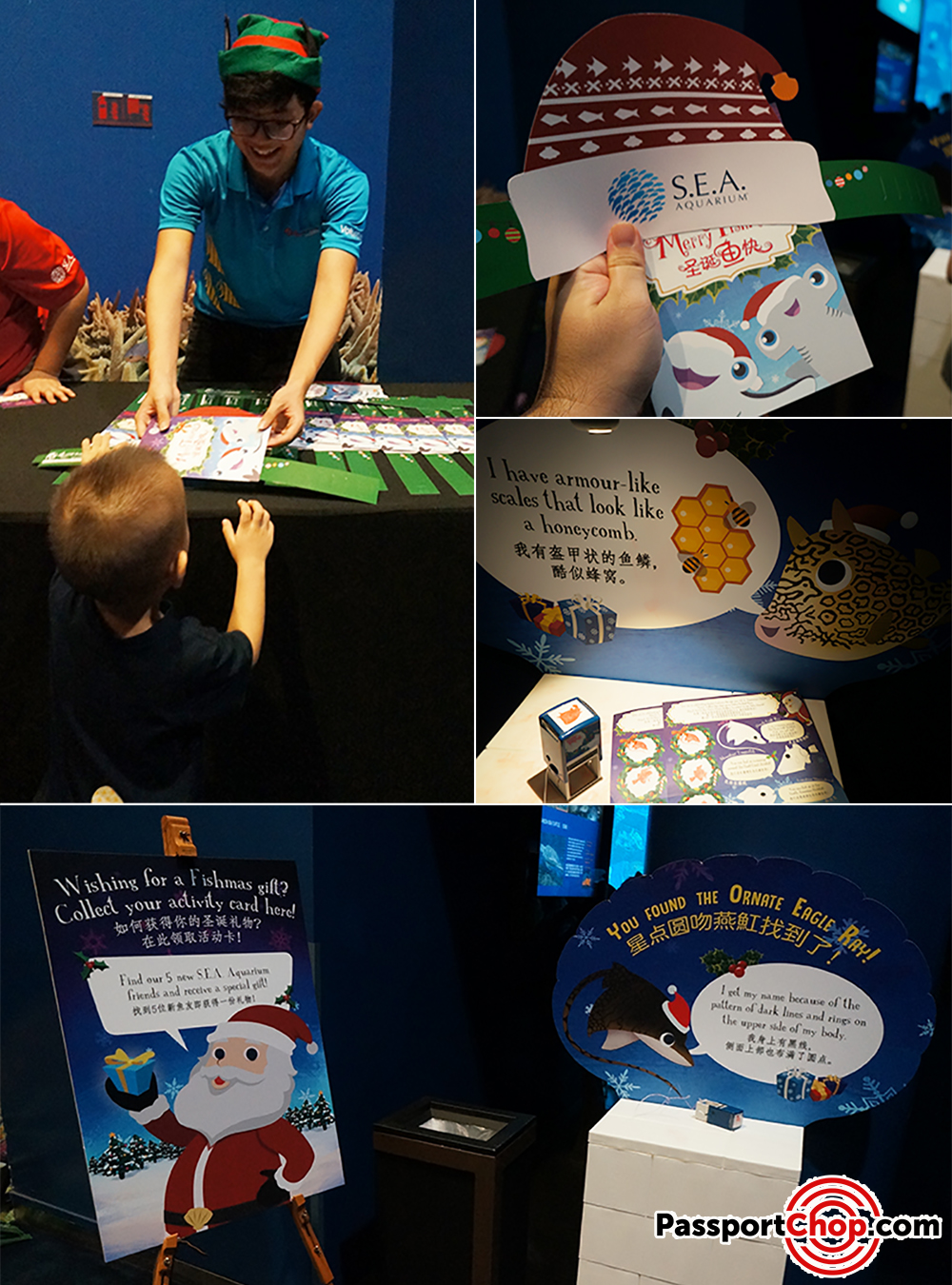 Santa Introduces Five New Friends stamp sea aquarium singapore