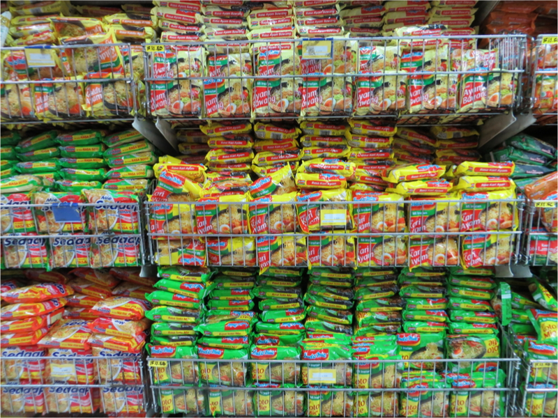 bali indomie selection shopping