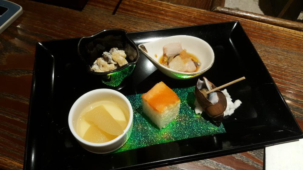 tatsumikan dinner ryokan appetiser