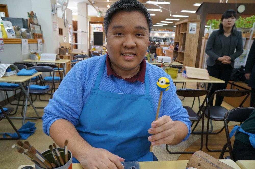 usaburo kokeshi doll painting experience gunma
