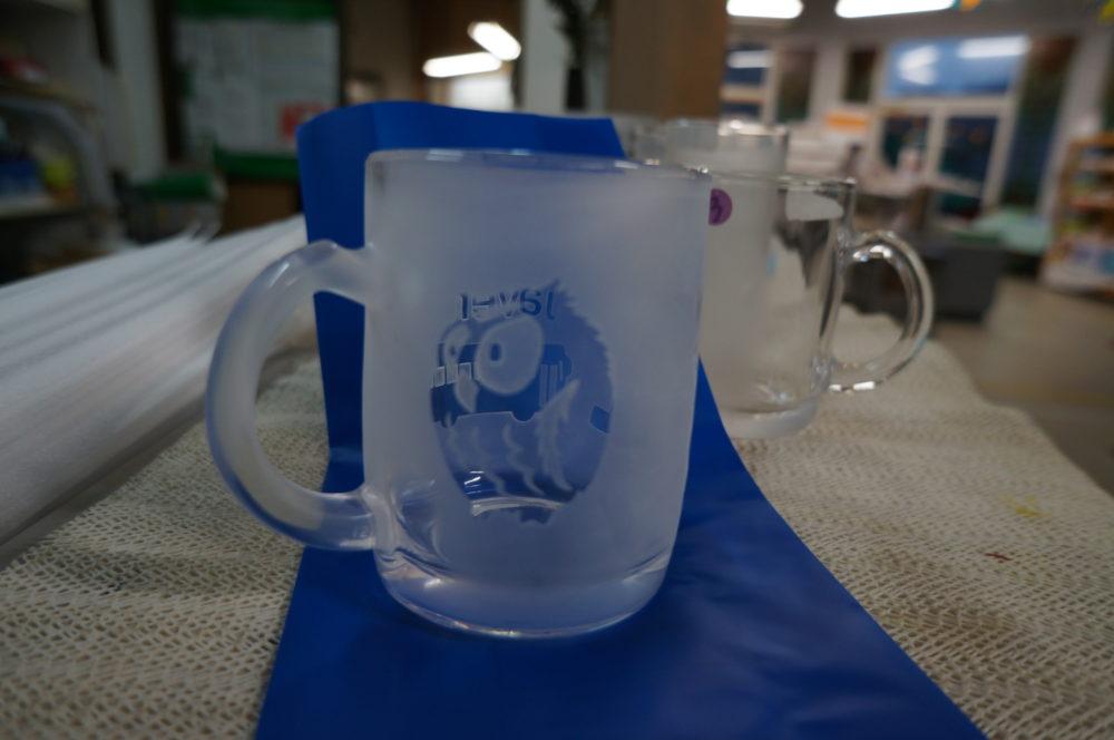 Tsukiyono Vidro Park sandblasting glass mug