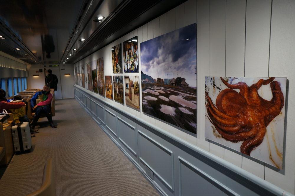 genbi shinkansen travelling art gallery