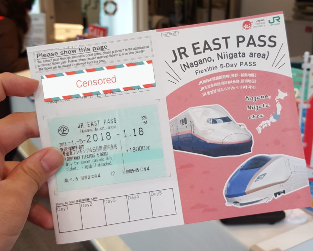 JR EAST PASS Northward Golden Route Niigata