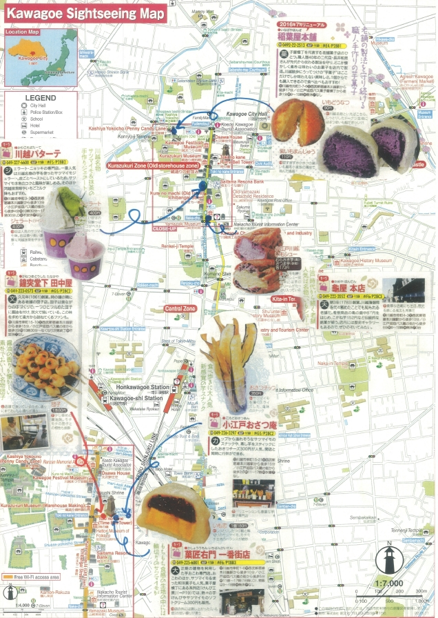 Kurazukuri Street Food Snack Map