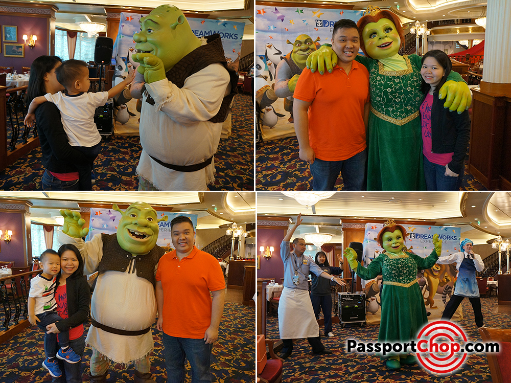 dreamworks breakfast meet and greet shrek fiona