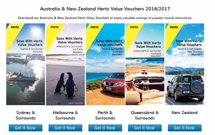 australia new zealand hertz value vouchers