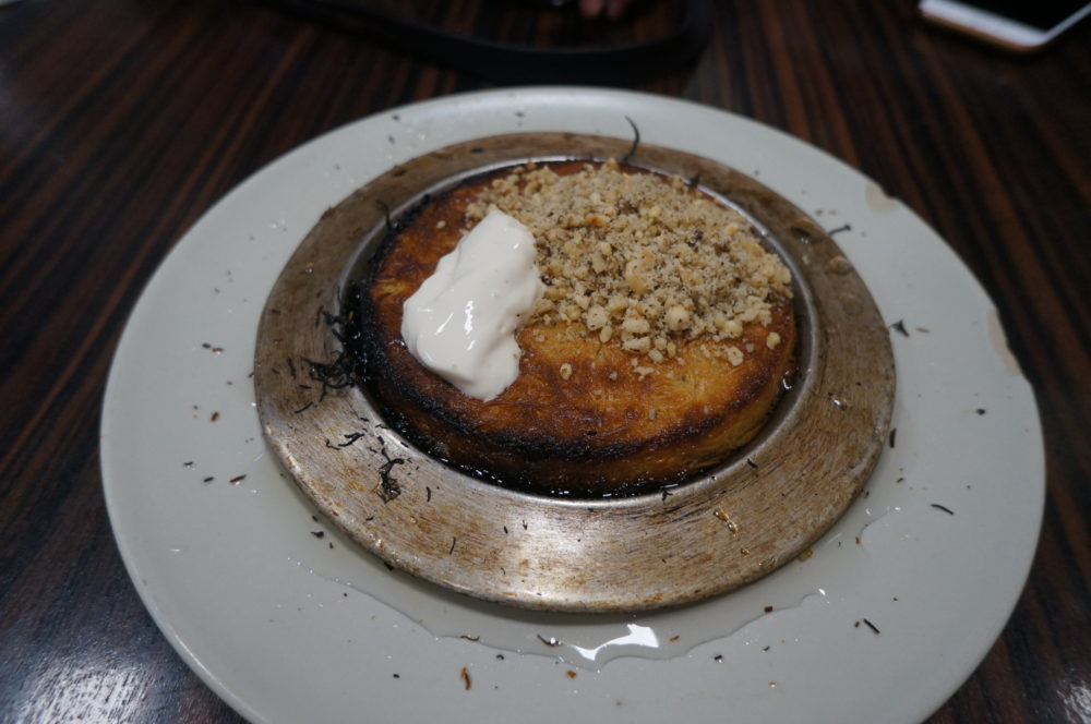 KÜNEFE Pastry mozzarella cheese doused with sugar syrup