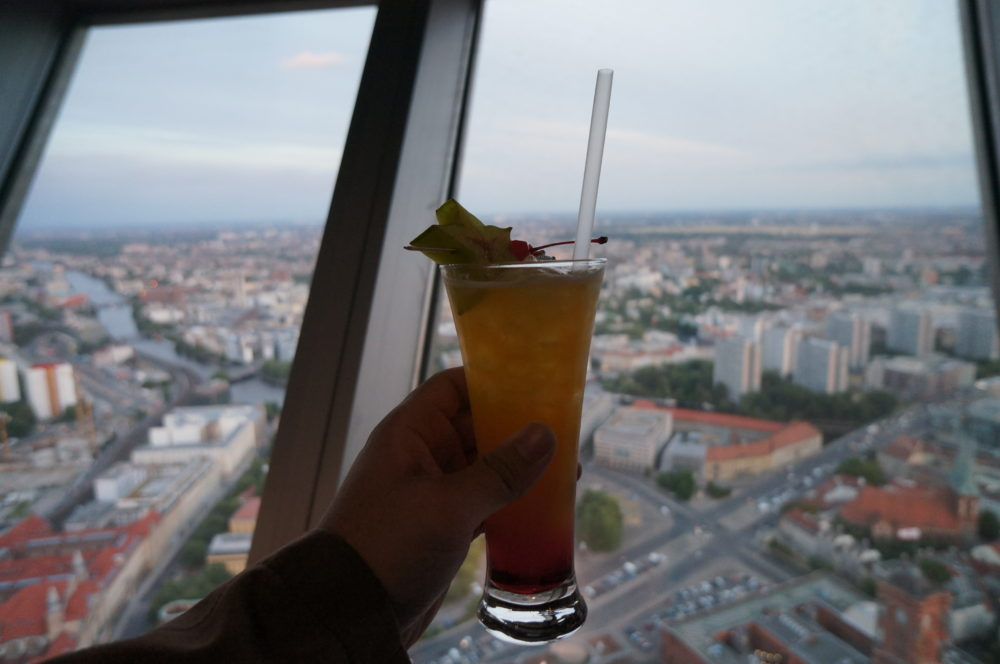 alexanderplatz TV Tower Berlin cocktail