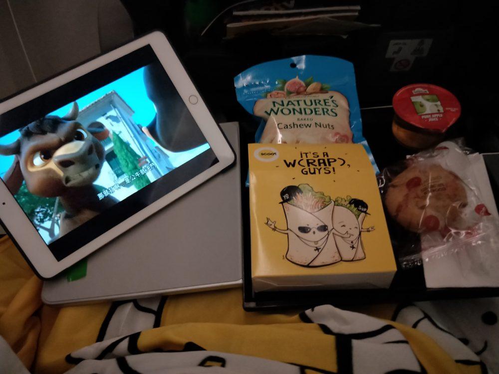 scoot long haul meal bundle berlin singapore chicken wrap