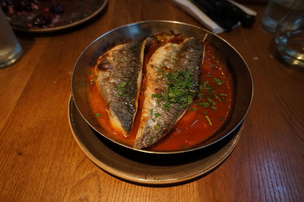 White fish spicy carrot ginger tomato sauce night kitchen