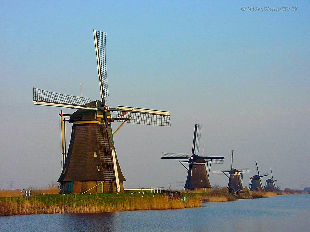 Windmills Kinderdijk Holland